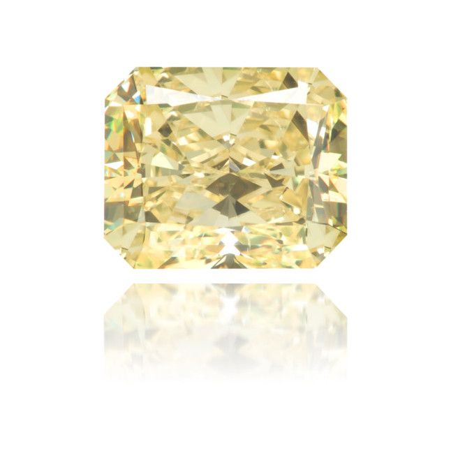 Natural Yellow Diamond Rectangle 1.03 ct Polished