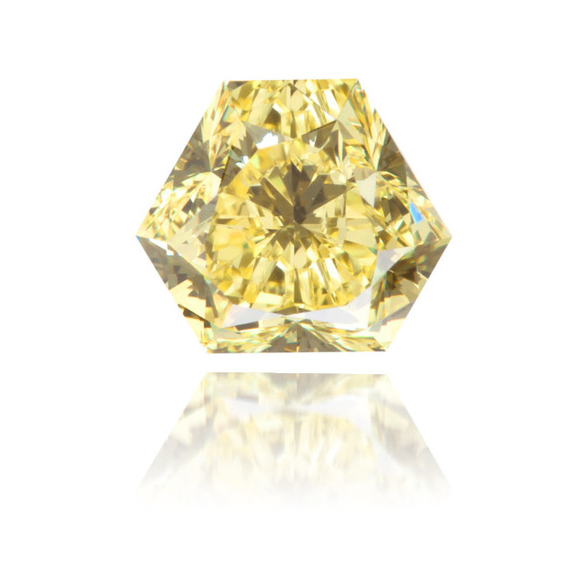 Natural Yellow Diamond Bishop Hat 1.03 ct Polished