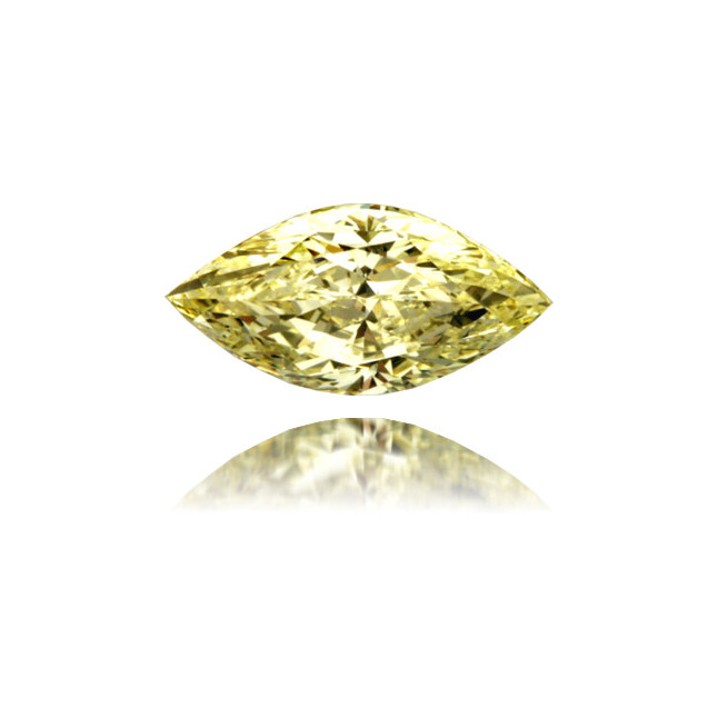 Natural Yellow Diamond Marquise 1.05 ct Polished