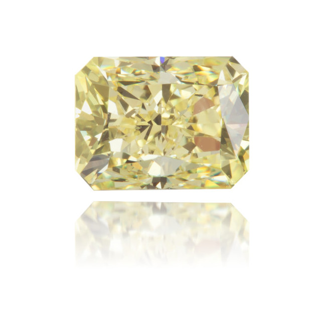 Natural Yellow Diamond Rectangle 1.05 ct Polished