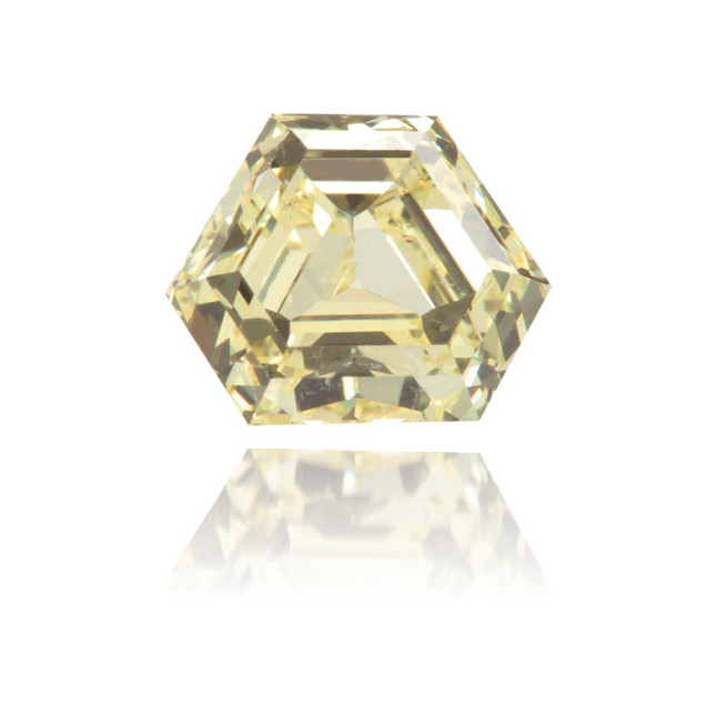 Natural Yellow Diamond Hexagon 1.05 ct Polished