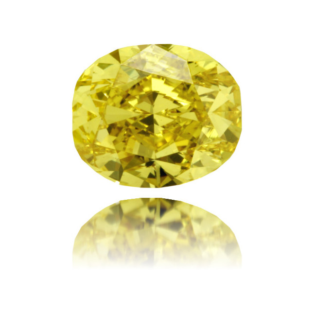 Natural Yellow Diamond Oval 1.05 ct Polished