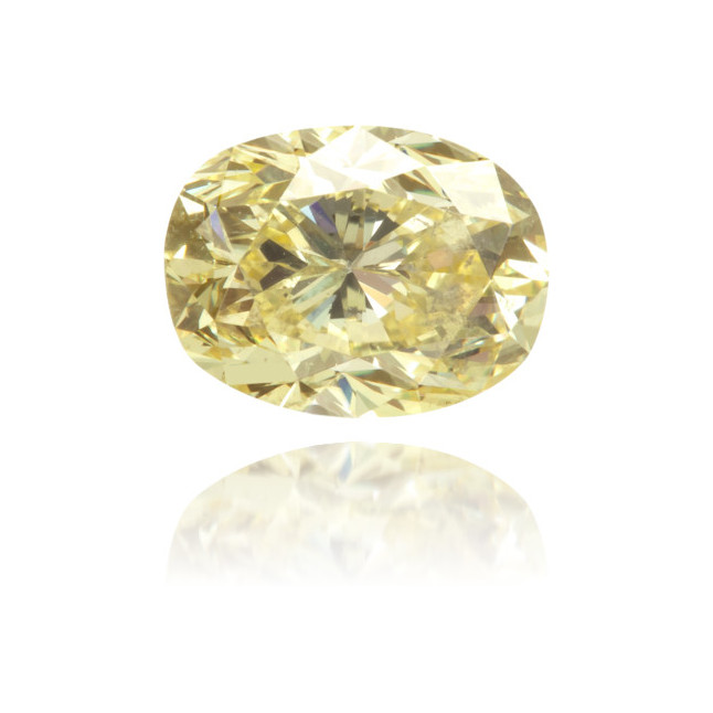 Natural Yellow Diamond Oval 1.06 ct Polished