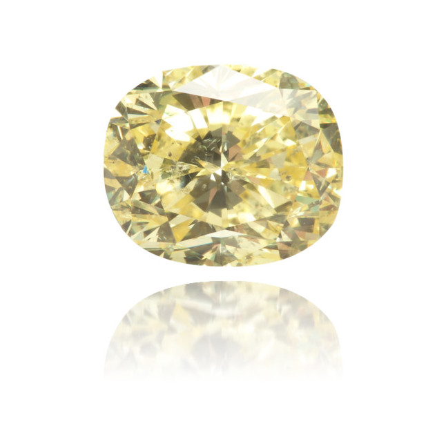 Natural Yellow Diamond Cushion 1.07 ct Polished