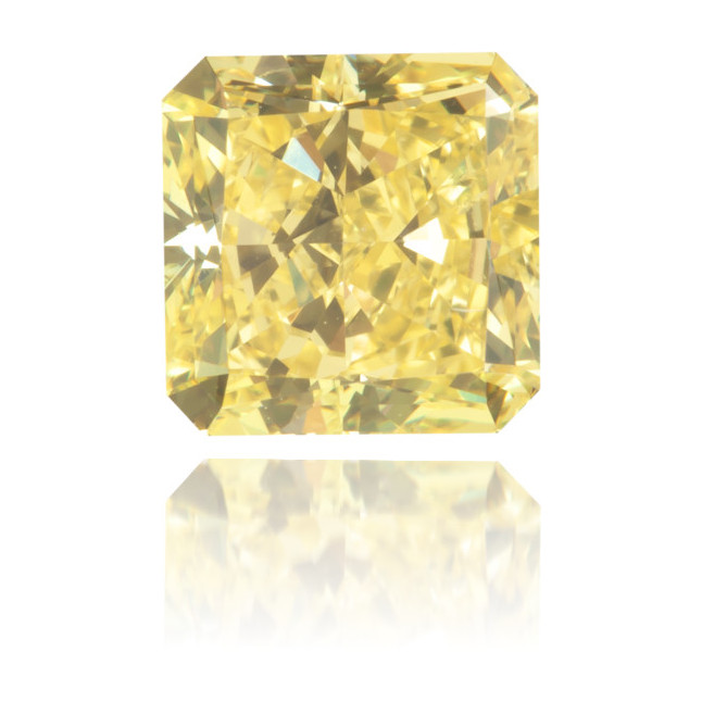 Natural Yellow Diamond Square 1.07 ct Polished