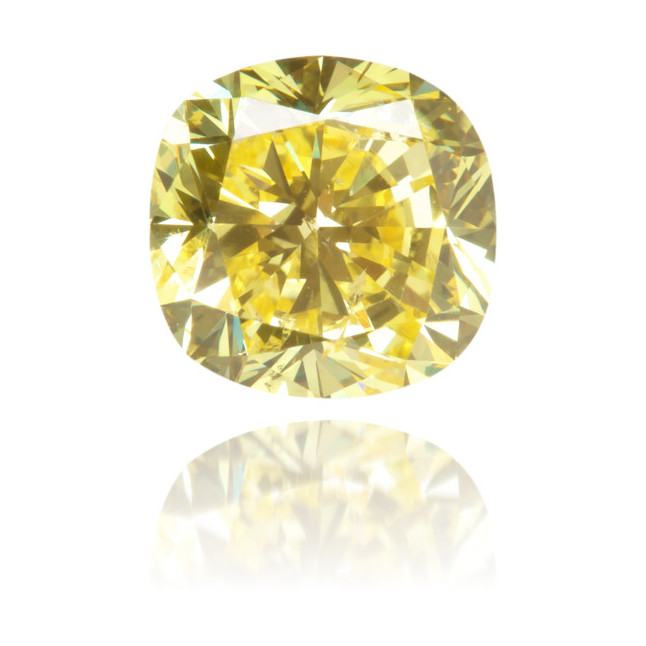 Natural Yellow Diamond Square 1.09 ct Polished