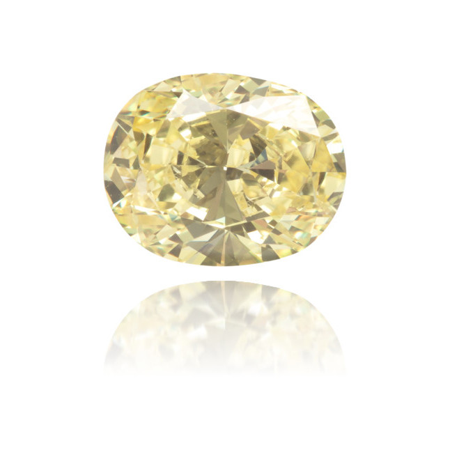 Natural Yellow Diamond Oval 1.09 ct Polished
