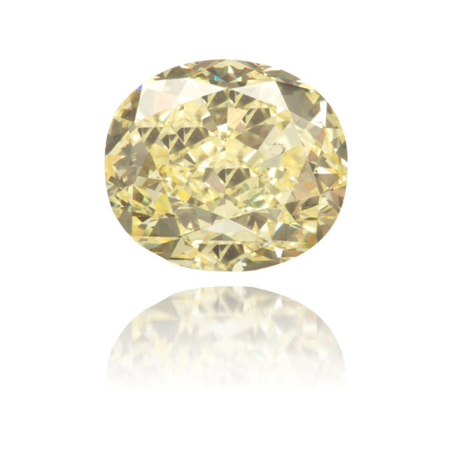 Natural Yellow Diamond Cushion 1.09 ct Polished