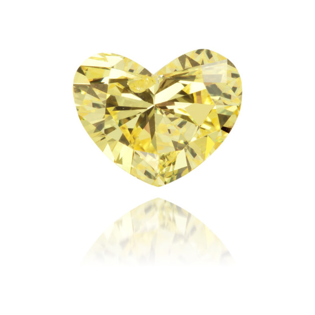 Natural Yellow Diamond Heart Shape 1.10 ct Polished