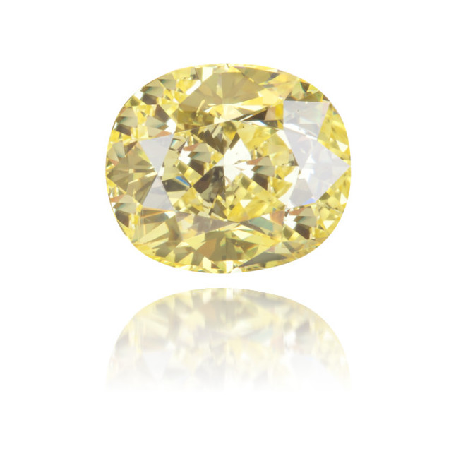 Natural Yellow Diamond Cushion 1.14 ct Polished