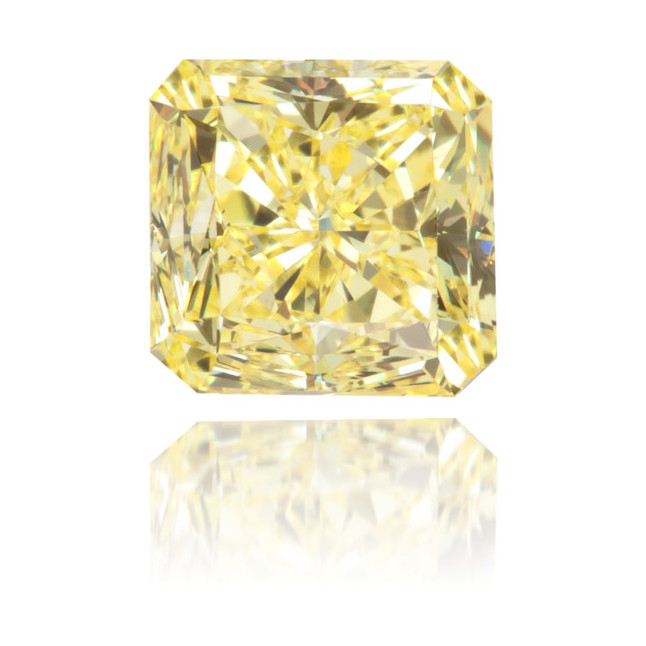 Natural Yellow Diamond Square 1.15 ct Polished