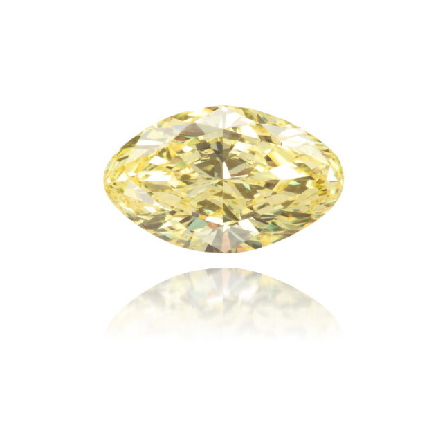 Natural Yellow Diamond Oval 1.14 ct Polished
