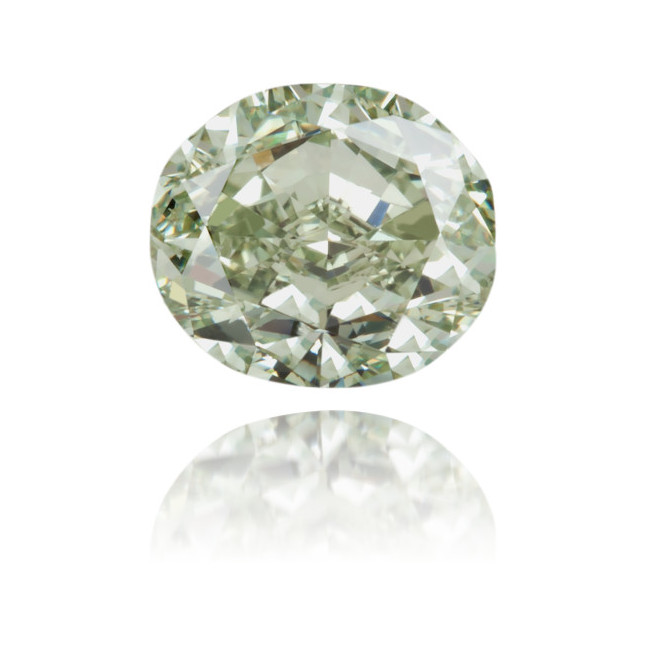 Natural Green Diamond Cushion 1.15 ct Polished