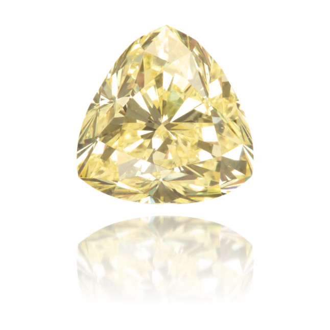 Natural Yellow Diamond Triangle 1.16 ct Polished