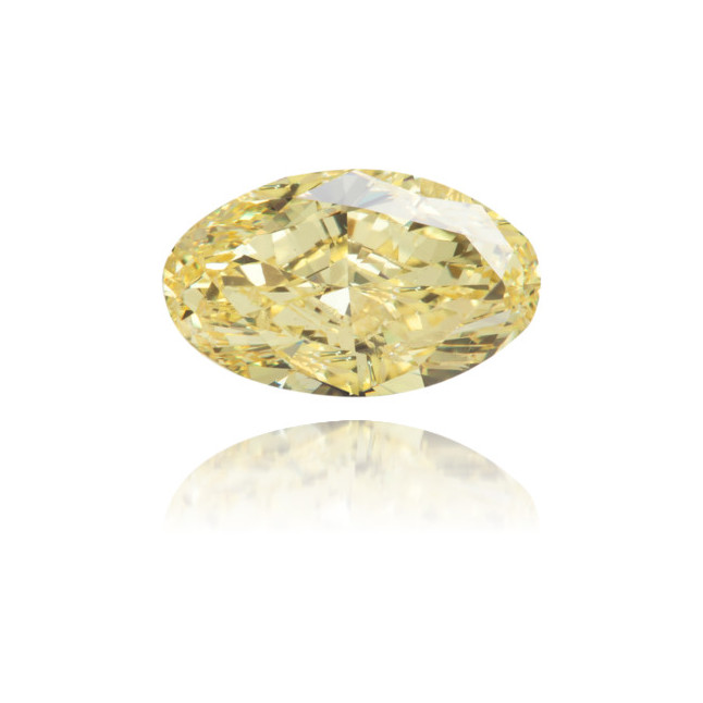 Natural Yellow Diamond Oval 1.17 ct Polished