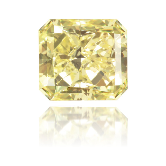 Natural Yellow Diamond Square 1.18 ct Polished