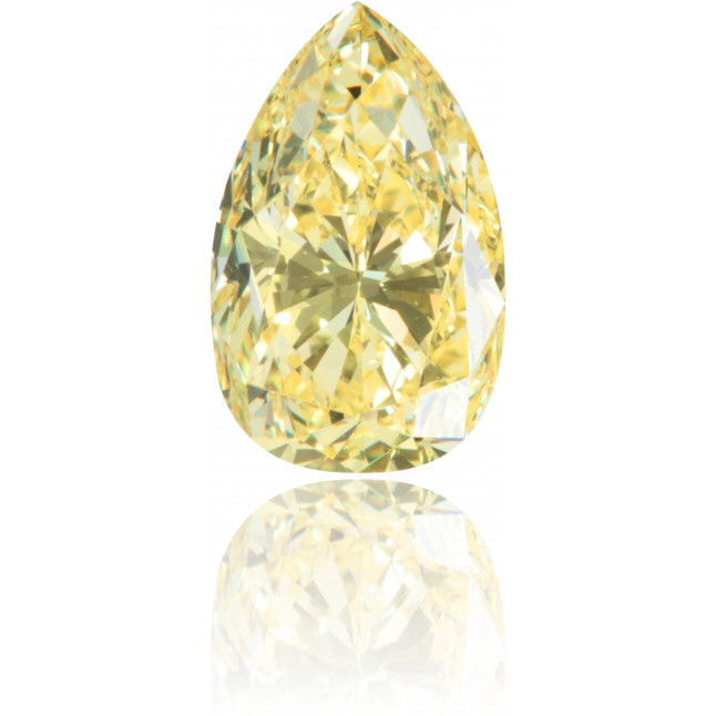 Natural Yellow Diamond Pear Shape 1.18 ct Polished