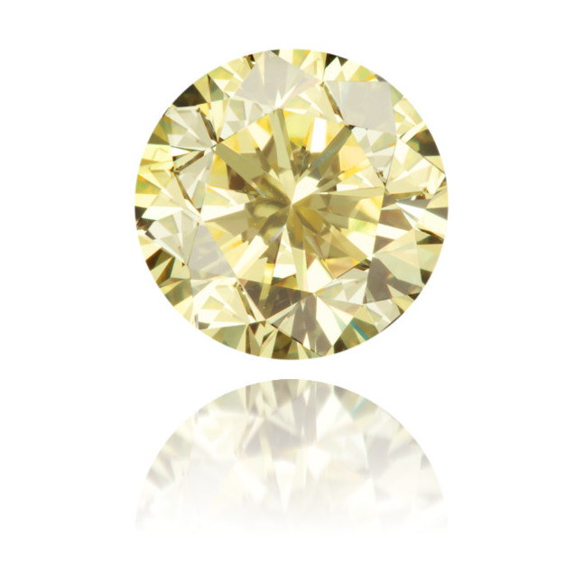 Natural Yellow Diamond Round 1.19 ct Polished