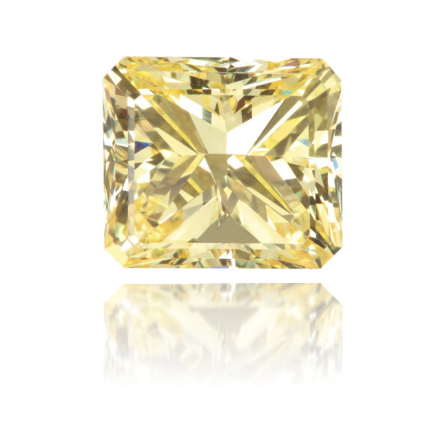 Natural Yellow Diamond Square 1.21 ct Polished