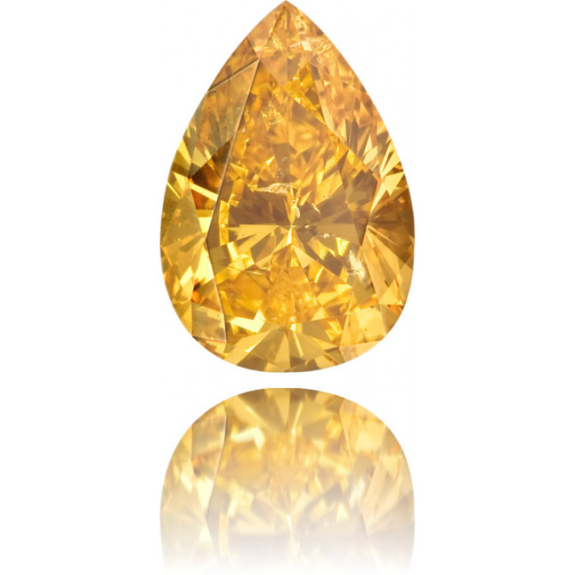 Natural Orange Diamond Pear Shape 1.21 ct Polished