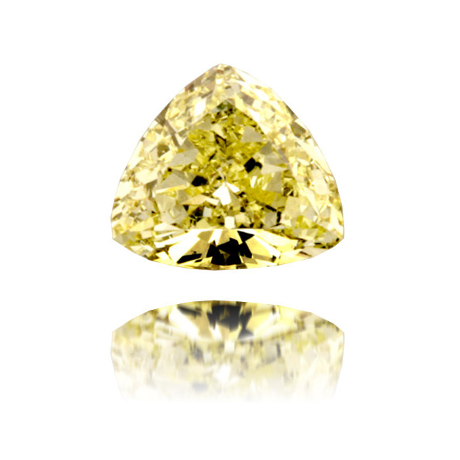 Natural Yellow Diamond Triangle 1.25 ct Polished