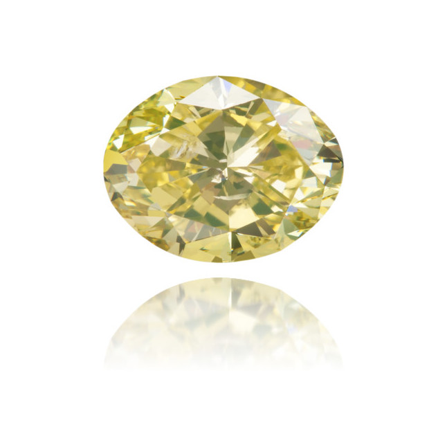 Natural Yellow Diamond Oval 1.26 ct Polished
