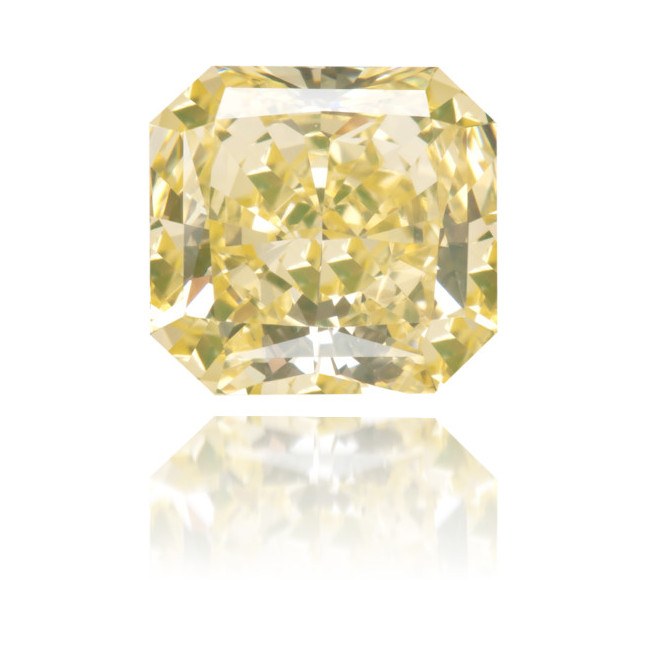 Natural Yellow Diamond Square 1.27 ct Polished