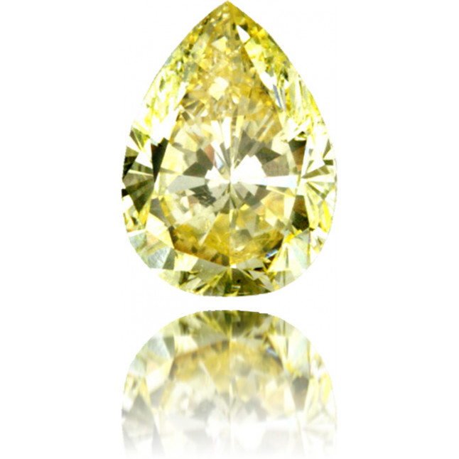 Natural Yellow Diamond Pear Shape 1.33 ct Polished