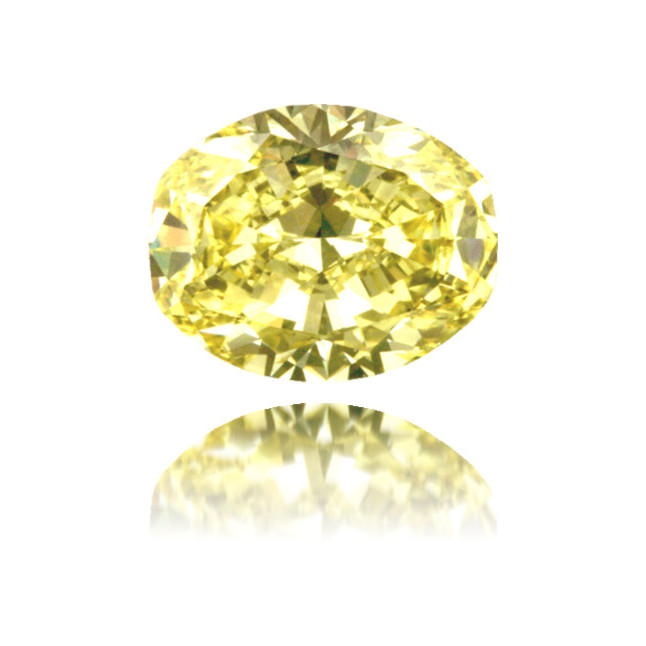 Natural Yellow Diamond Cushion 1.35 ct Polished