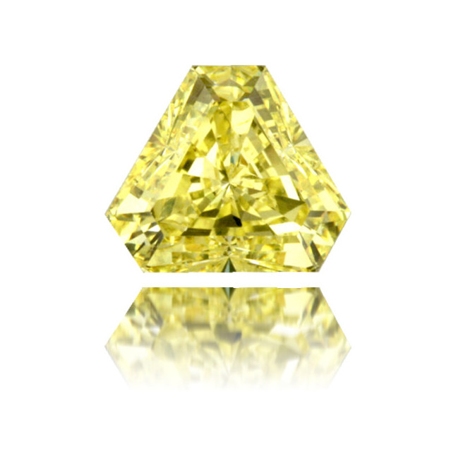 Natural Yellow Diamond Triangle 1.35 ct Polished