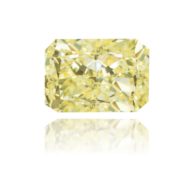 Natural Yellow Diamond Rectangle 1.37 ct Polished