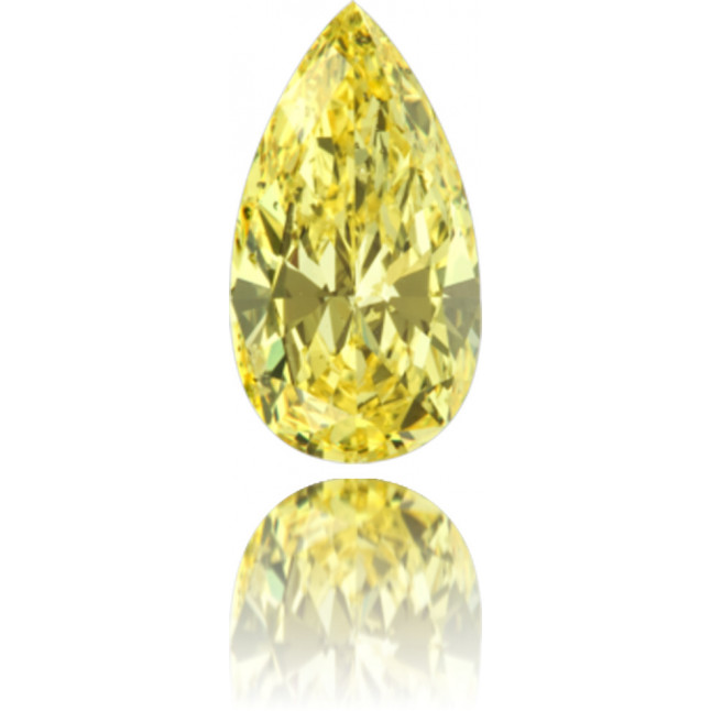 Natural Yellow Diamond Pear Shape 1.41 ct Polished