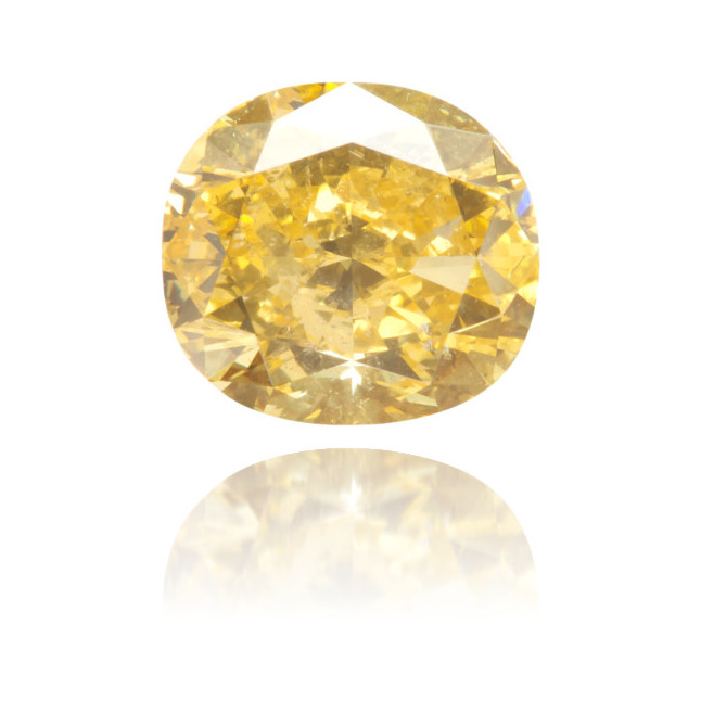 Natural Yellow Diamond Cushion 1.42 ct Polished