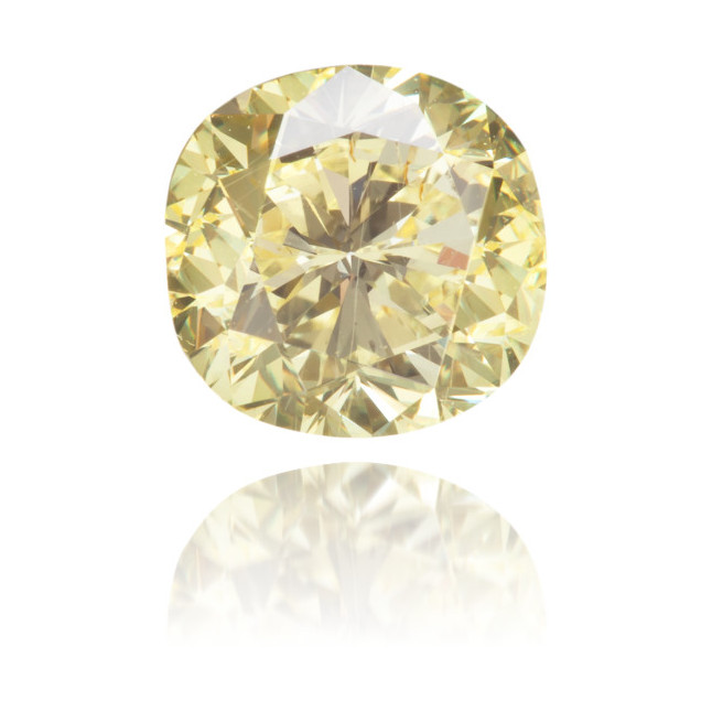 Natural Yellow Diamond Square 1.47 ct Polished