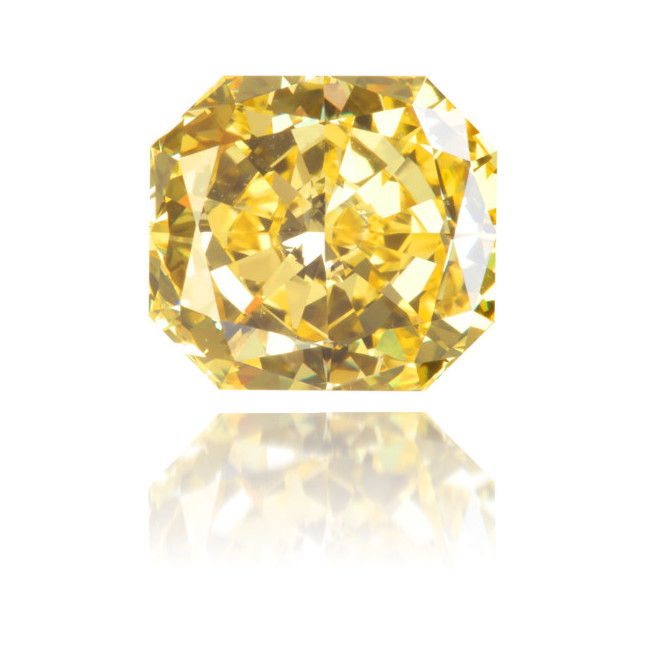 Natural Yellow Diamond Square 1.48 ct Polished