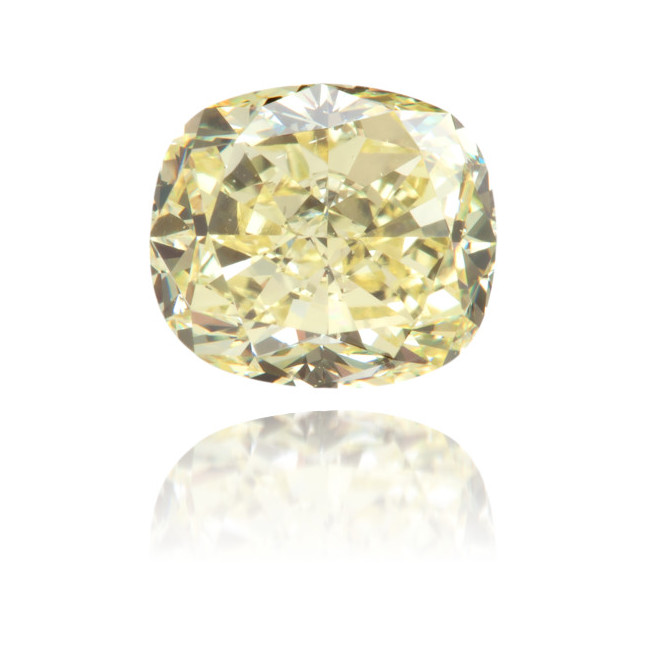 Natural Yellow Diamond Cushion 1.54 ct Polished