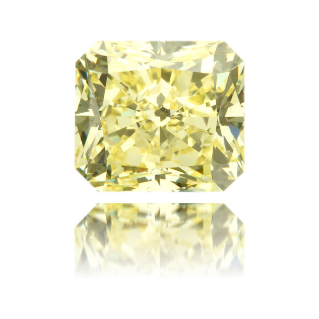 Natural Yellow Diamond Square 1.54 ct Polished