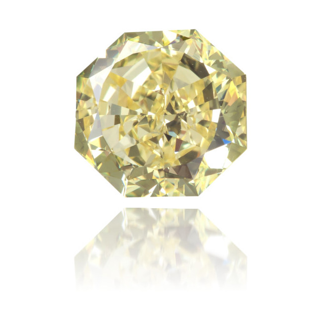 Natural Yellow Diamond Octagon 1.54 ct Polished