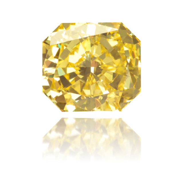 Natural Yellow Diamond Square 1.58 ct Polished