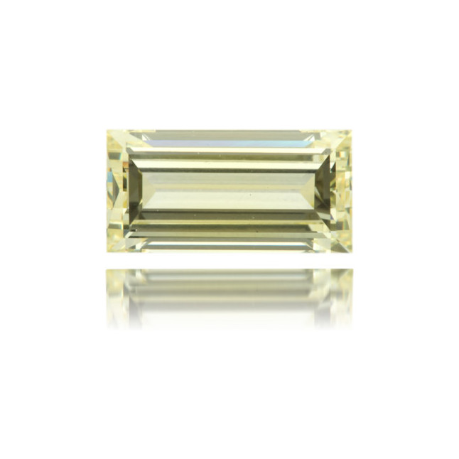 Natural Yellow Diamond Rectangle 1.72 ct Polished
