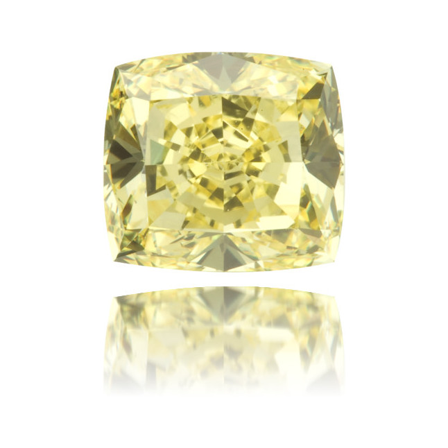 Natural Yellow Diamond Square 1.74 ct Polished