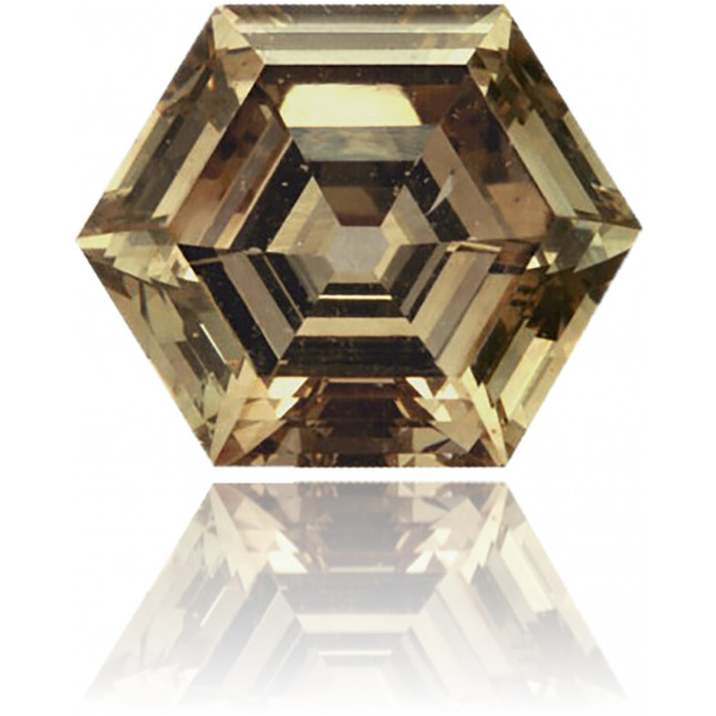 Natural Brown Diamond Hexagon 1.77 ct Polished
