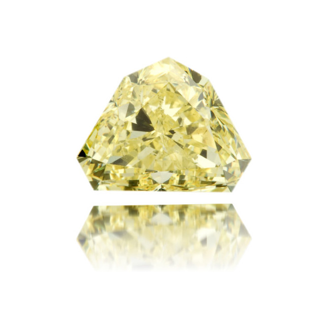 Natural Yellow Diamond Bishop Hat 1.78 ct Polished