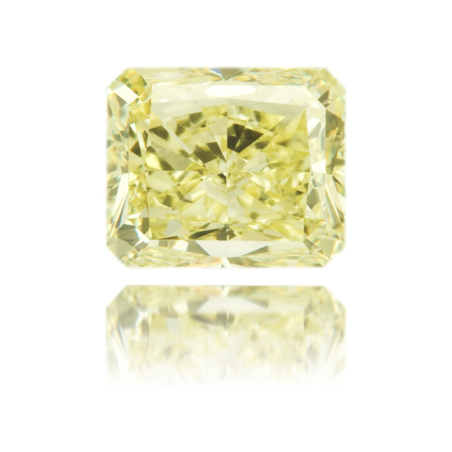 Natural Yellow Diamond Rectangle 1.79 ct Polished
