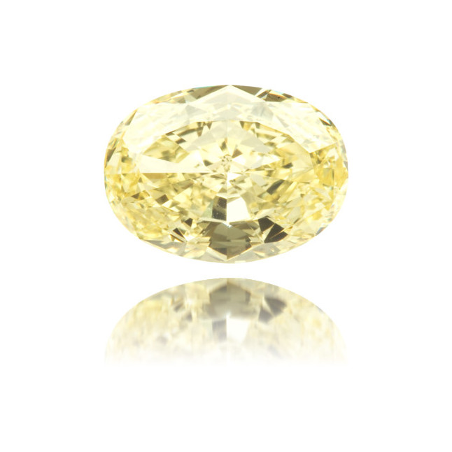 Natural Yellow Diamond Oval 1.82 ct Polished