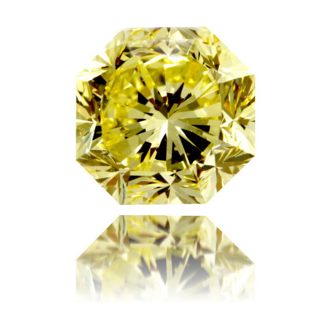 Natural Yellow Diamond Octagon 1.84 ct Polished