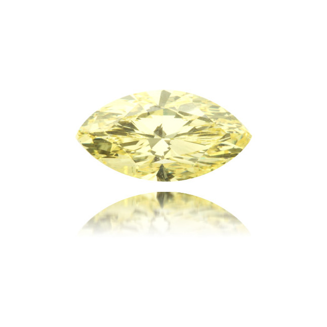 Natural Yellow Diamond Marquise 2.01 ct Polished