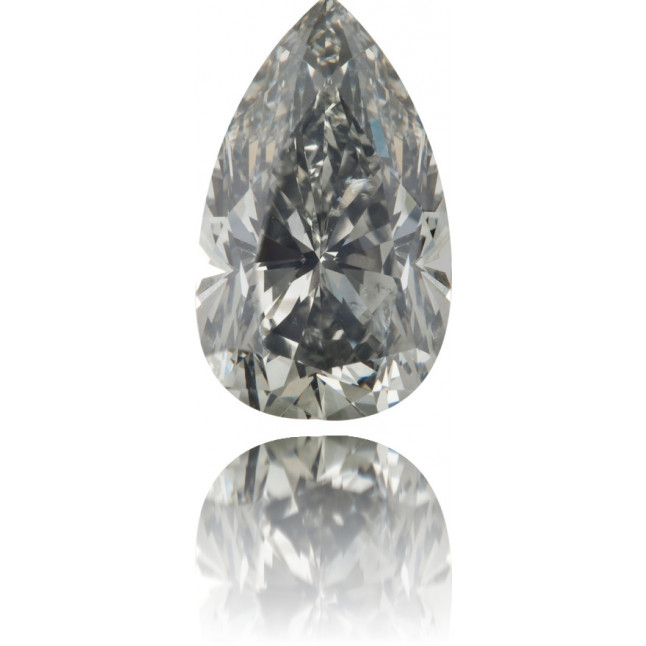 Natural Gray Diamond Pear Shape 2.57 ct Polished