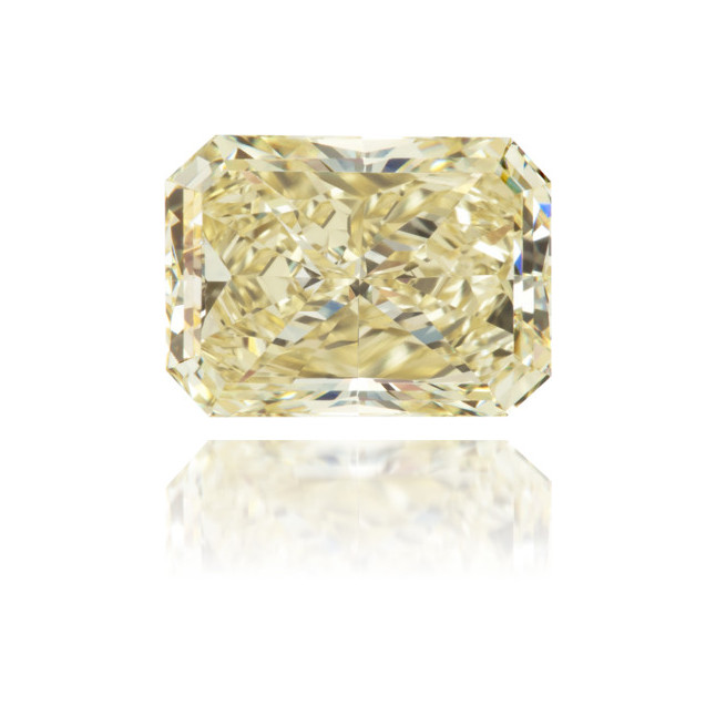 Natural Yellow Diamond Rectangle 2.78 ct Polished
