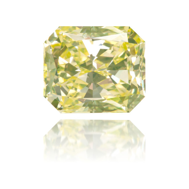 Natural Green Diamond Rectangle 2.81 ct Polished